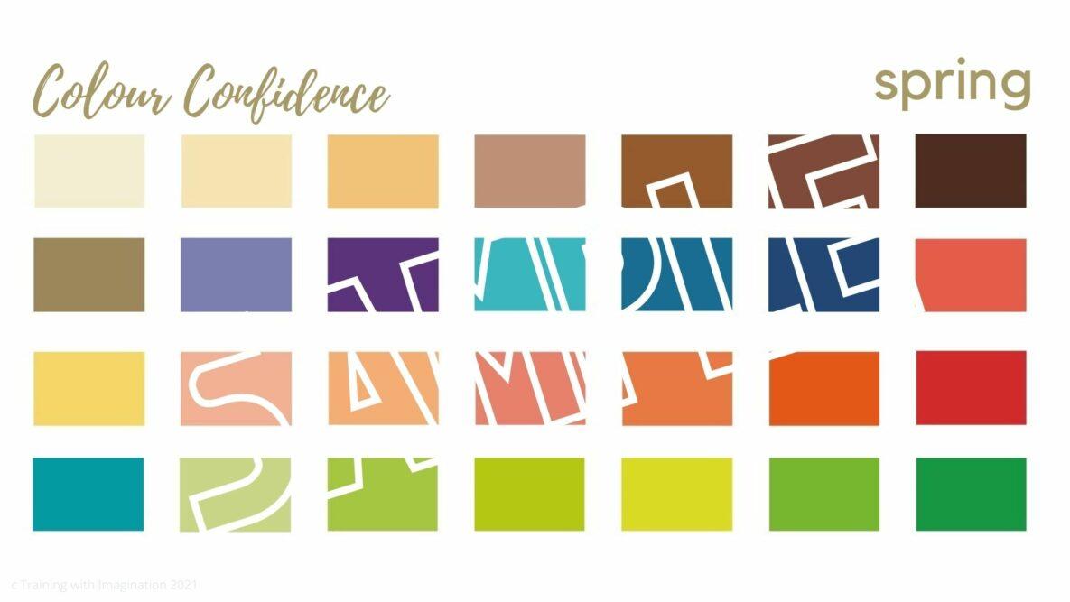 Colour Condifence digital colour palette